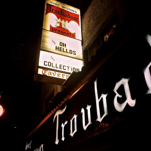 Waiting outside the Troubadour to go see The Oh Hellos