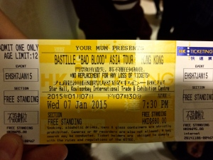 Was lucky enough to catch a Bastille concert while in HK!!