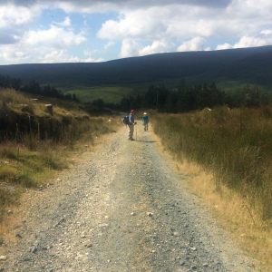 Starting off into the Wicklow Mountains